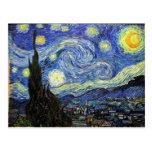 Noche estrellada de Vincent van Gogh 1889 Postal