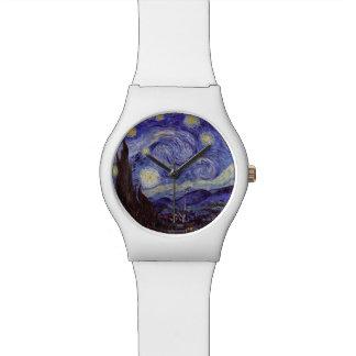 Noche estrellada de Vincent van Gogh (1889) Reloj De Mano
