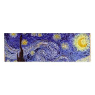 Noche estrellada de Vincent van Gogh (1889) Tarjetas De Visita