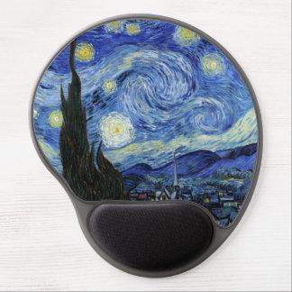 Noche estrellada de Vincent van Gogh Alfombrilla De Raton Con Gel