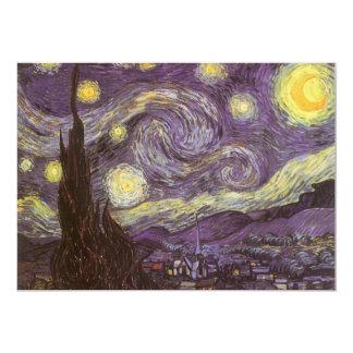 """Noche estrellada de Vincent van Gogh, bella arte Invitación 5"""" X 7"""""""