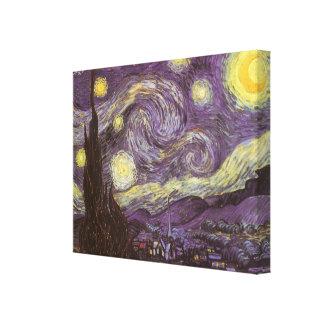 Noche estrellada de Vincent van Gogh, bella arte Lona Estirada Galerias