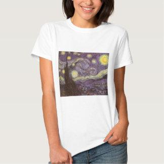 Noche estrellada de Vincent van Gogh, bella arte Playera