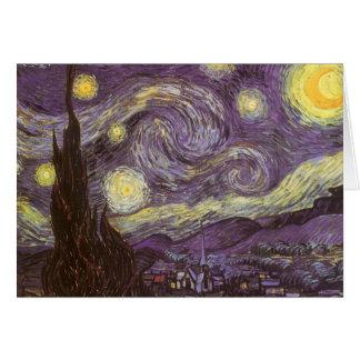 Noche estrellada de Vincent van Gogh, bella arte Tarjeta De Felicitación