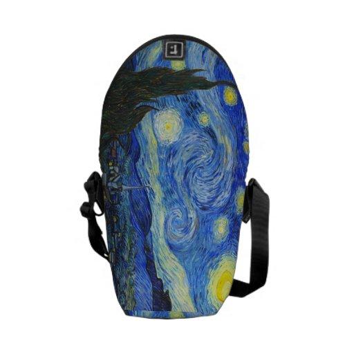 Noche estrellada de Vincent van Gogh Bolsa Messenger