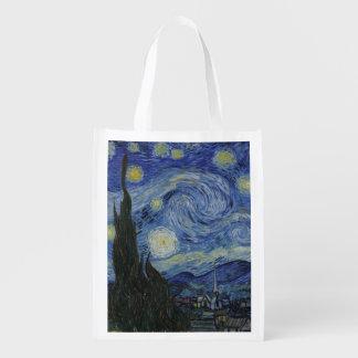Noche estrellada de Vincent van Gogh Bolsa Para La Compra