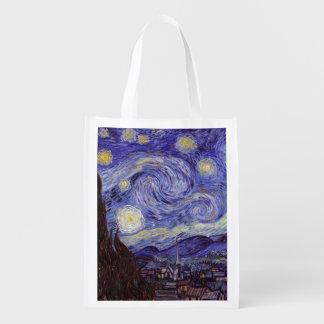 Noche estrellada de Vincent van Gogh Bolsas De La Compra