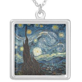 Noche estrellada de Vincent van Gogh Colgante Cuadrado