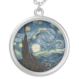 Noche estrellada de Vincent van Gogh Colgante Redondo