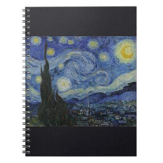 Noche estrellada de Vincent van Gogh Cuaderno