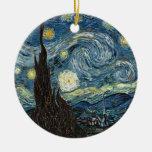 Noche estrellada de Vincent van Gogh Adornos De Navidad