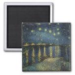 Noche estrellada de Vincent van Gogh el   sobre el Imán Cuadrado