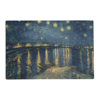 Noche estrellada de Vincent van Gogh el   sobre el Tapete Individual