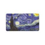 Noche estrellada de Vincent van Gogh Etiquetas De Dirección