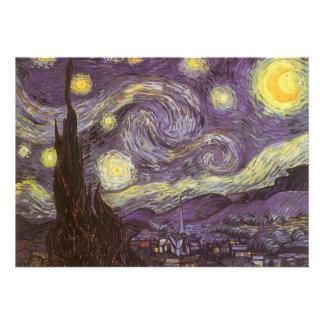Noche estrellada de Vincent van Gogh fiesta de cu Invitacion Personalizada