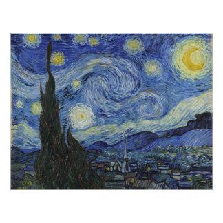 Noche estrellada de Vincent van Gogh Tarjetones