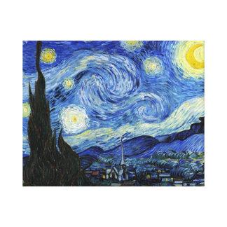 Noche estrellada de Vincent van Gogh Impresión En Lona Estirada