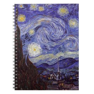 Noche estrellada de Vincent van Gogh Libretas Espirales