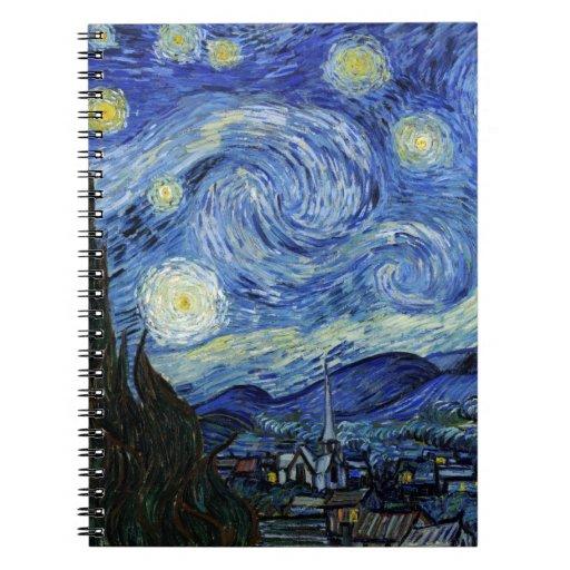 Noche estrellada de Vincent van Gogh Libros De Apuntes