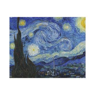 Noche estrellada de Vincent van Gogh Impresión En Lienzo Estirada