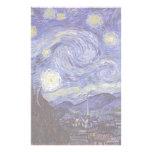 Noche estrellada de Vincent van Gogh Papelería Personalizada