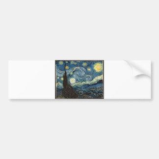 Noche estrellada de Vincent van Gogh Pegatina Para Auto