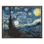 Noche estrellada de Vincent van Gogh Impresión Fotográfica