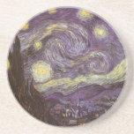 Noche estrellada de Vincent van Gogh Posavasos Cerveza