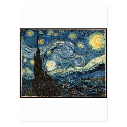 Noche estrellada de Vincent van Gogh Postales