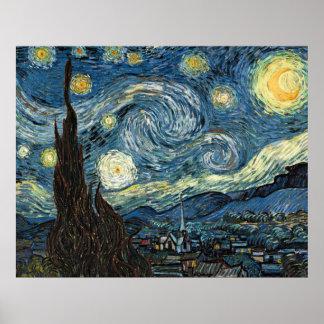 Noche estrellada de Vincent van Gogh Póster