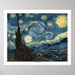 Noche estrellada de Vincent van Gogh Posters