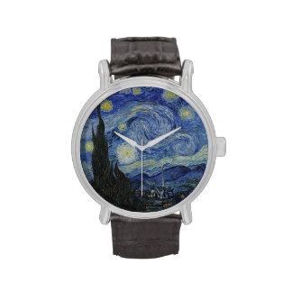 Noche estrellada de Vincent van Gogh Relojes De Pulsera