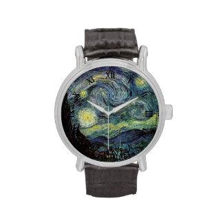 Noche estrellada de Vincent van Gogh. Reloj De Mano
