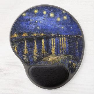 Noche estrellada de Vincent van Gogh sobre el Alfombrilla Para Ratón De Gel