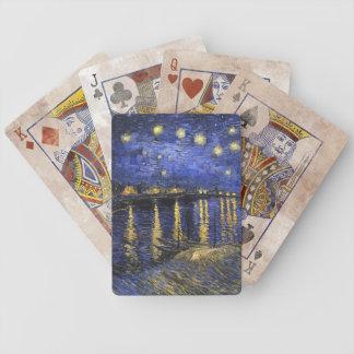 Noche estrellada de Vincent van Gogh sobre el Baraja Cartas De Poker