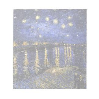 Noche estrellada de Vincent van Gogh sobre el Libreta Para Notas