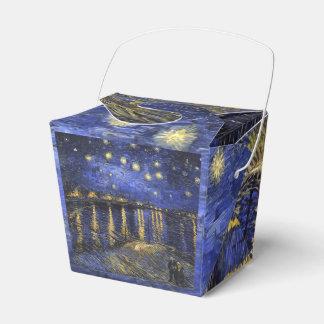 Noche estrellada de Vincent van Gogh sobre el Cajas Para Regalos De Boda