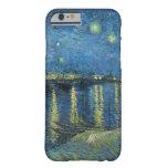 Noche estrellada de Vincent van Gogh sobre el Funda De iPhone 6 Barely There