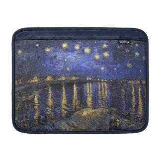 Noche estrellada de Vincent van Gogh sobre el Funda Para Macbook Air