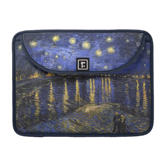 Noche estrellada de Vincent van Gogh sobre el Fundas Para Macbooks