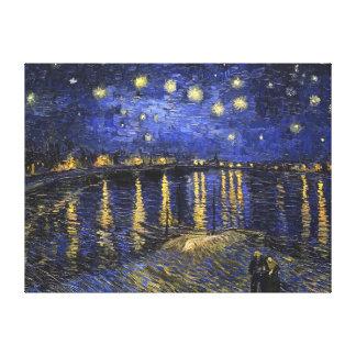 Noche estrellada de Vincent van Gogh sobre el Lona Estirada Galerías
