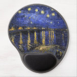 Noche estrellada de Vincent van Gogh sobre el Rhon Alfombrilla De Ratón Con Gel