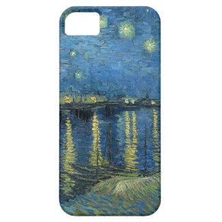 Noche estrellada de Vincent van Gogh sobre el Rhon iPhone 5 Case-Mate Cobertura
