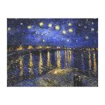 Noche estrellada de Vincent van Gogh sobre el Rhon Lona Estirada Galerías