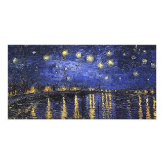 Noche estrellada de Vincent van Gogh sobre el Tarjeta Fotografica