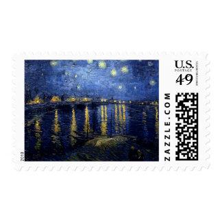 Noche estrellada de Vincent van Gogh sobre el Timbres Postales