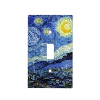 Noche estrellada de Vincent van Gogh Tapas Para Interruptores