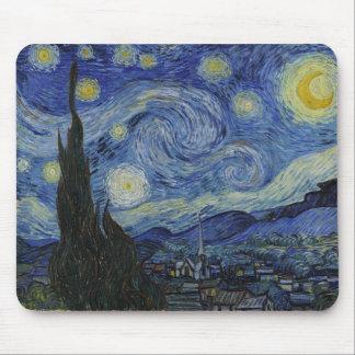 Noche estrellada de Vincent van Gogh Alfombrilla De Ratón