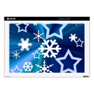 Noche estrellada del invierno skins para 43,2cm portátil