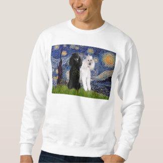 Noche estrellada - dos caniches estándar suéter